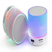 Deals e Unique Multimedia Bluetooth Speaker LED Compatible with Memory Card/Pen Drive Slot for all Device(Multi-Color)