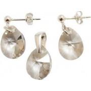 Set argint 925 cu swarovski elements Silver Shade