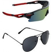 Zyaden Combo of 2 Sunglasses Sport and Aviator Sunglasses- COMBO 2748