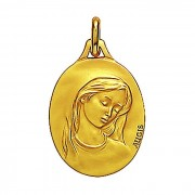 Augis Médaille Augis Vierge au voile ovale