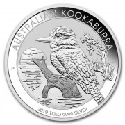 Kookaburra Stříbrná mince 30 AUD Australian Ledňáček 1Kg 2019
