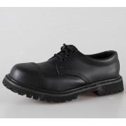 cipő bőr 3 lyukú Brandit - Phantom Black - 9001/2