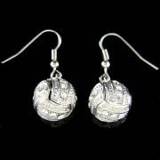 Swarovski Crystal 3D Volleyball Charm Sports Earrings Unisex Jewelry