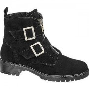 5th avenue Zwarte bikerboot suede