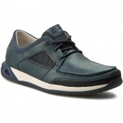 Обувки CLARKS - Ormand Sail 261246117 Navy Leather