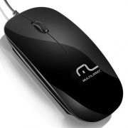 Mouse Óptico Multilaser Colors Slim Usb 800 Dpi Black Piano Mo166 - Unissex