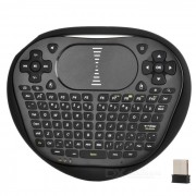 Mini aire inalambrico volando teclado mouse w / touch panel - negro
