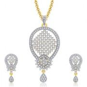 Sukkhi Harmony Gold And Rhodium Plated CZ Pendant Set For Women