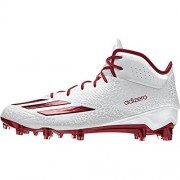 Adidas Adizero 5Star 5.0 Mid Mens Football Cleat 10 White-Power Red