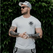 GymBeam Majica The Best Version White Black XL
