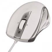 Оптична мишка HAMA Torino, USB, 800/1000/1200 dpi, Сребрист/Бял, HAMA-53865