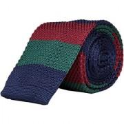 Dapper Homme Self Design Navy Color Polyester Tie For Mens