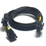 LODFIBER Cable de alimentación de 8 Pines a 8 + 6 Pines para Tarjeta de vídeo DELL T5600 y GPU de 35 cm