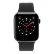 Apple Watch Series 4 - boîtier en acier inoxydable noir 44mm - bracelet sport noir (GPS+Cellular)