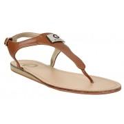 Guess Sandale pentru femei G de Guess Carmela T- Strap Sandals Brown 40
