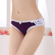 V&V Dámské kalhotky s krajkou - Valentine (fialová barva) - V&V