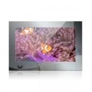 Nemo Stock Mues Tec badkamer TV spiegelfront met 47cm beeldscherm IP65 totale spiegelgrootte 55 x 35,6 cm met montageframe waterdichte afstandsbediening 12V SG-1850