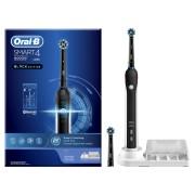 Periuta de dinti electrica Oral-B Smart 4 4000 Cross Action, Black Edition 40000 pulsatii min, 8800 oscilatii min, Curatare 3D, 3 programe, 2 capete, Bluetooth