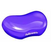 Csuklótámasz, mini, géltöltésű, FELLOWES Crystal™ Gel, lila (IFW91477)
