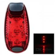 Leadbike 2-Mode Red LED mochila lampara de casco luz trasera de bicicleta - rojo