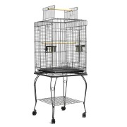 i.Pet Large Bird Cage with Perch - Black [PET-BIRDCAGE-A102-BK]
