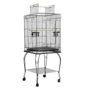 i.Pet Large Bird Cage with Perch - Black [PET-BIRDCAGE-A102-BK]