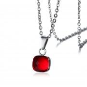Collares Colgantes De Moda Venico De Vidrio Joyerìa De Mujer - Rojo
