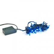 Instalatie electrica de Craciun pentru brad, lungime 5m, 50 becuri LED culoare albastru, 8 moduri de iluminare