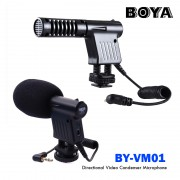Boya BY-VM01 Unidirectional Camera Micrphone for DSLRs Camcorders