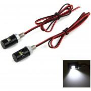 Licencia 2pcs LED Car Auto Motocicleta Luz De La Placa De La Lámpara 12V De La Moto Para BMW Honda Yamaha Suzuki (Negro)