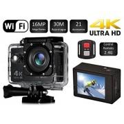 """Desconocido Cámara SJ Pro 4K WiFi Deportiva Y Acuática 60FPS HD 16MP Pantalla LCD HD 2"""" Negra"""