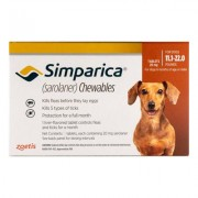 Simparica Chewables For Dogs 11.1-22 Lbs (Brown) 6 Pack