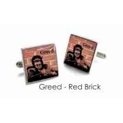 Tyler & Tyler Stencilart 7 Deadly Sins Red Brick Cufflinks Greed