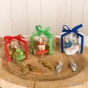 Peonzas navideñas en cajita con caramelos