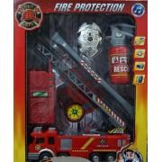Firemen víz spriccelős Tűzoltó szett - Gyerek játék