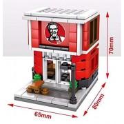 The Viyu Box Fast Food Joints Lego Like Building Blocks McDonalds Star Bucks KFC and Ice Cream Parlour Educational Toy for Kids