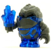 LEGO Power Miner Minifig Rock Monster Glaciator Trans-Dark Blue