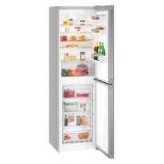 Combina frigorifica Liebherr CNel 4713, 328 L, No Frost, Display, Control taste, Raft sticle, Alarma usa, H 201.1 cm, A++, Argintiu