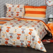 Lenjerie de pat 4Home Little Fox, din bumbac, 140 x 200 cm, 70 x 90 cm, 140 x 200 cm, 70 x 90 cm