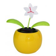 Dancing Flowers~ Lily in Assorted Color Pots Solar Toy Flower US Seller Great Holiday Christmas Gift Car Dashboard Office Desk Home Decor B11660~ We Pay Your Sales Tax