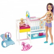 Barbie Bambola Barbie Playset Skypper Babysitter