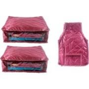 Ajabh High Qulity NEW COMBO OF 2PCS HIGHT SAREE 1p blou COVER GIFT ORGANIZER TRAVLING BAG KEEP SAREE\BLOUSE\SALWAR\JEANS\TOP ETC.(Maroon)