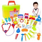Leegor 30pcs Childrens Kids Role Play Doctor Nurses Game Toys Set Hospital Simulation Utensils Medical Kit Christmas Gift Education Toy (white)