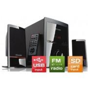 Microlab M-700U * Aktivni drven zvucnici 2.1 46W RMS(18W,2x14W) SD, USB, FM, daljinski, 3.5mm (4399)