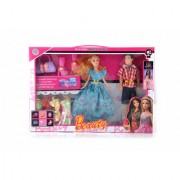 KidzFan Fashion Doll Barbie With Her Partner Accessories and Clothes Best Gift For Birthday Girl