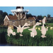 Puzzled Ducks 4 In 1 3D Natural Wood Puzzle