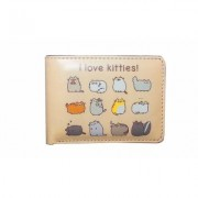 Women's Pusheen the Cat Wallets & Tote Bags Bifold Wallet Beige Polyester