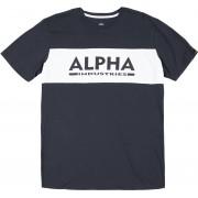 Alpha Industries Alpha Inlay T-shirt Blå XL