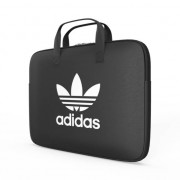 adidas Originals Housse pour ordinateur portable avec zip 13 pouces SS19 Noir Blanc