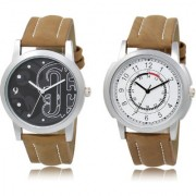 The Shopoholic Black White Combo Stylist Designer Combo Pack 2 Black And White Dial Analog Watch For Boys Watches Men Stylish
